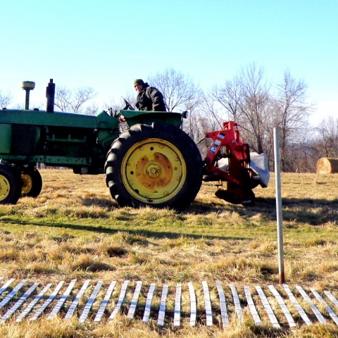 Haying at Holcombe Hill Preserve
